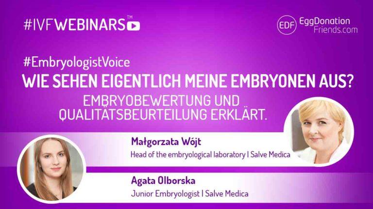 Wie sehen eigentlich meine Embryonen aus? Embryobewertung und Qualitätsbeurteilung erklärt #IVFWEBINARS